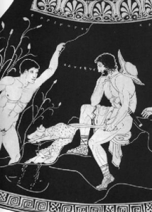 The Lykaon Painter Odysseus Meets Elpenor In The