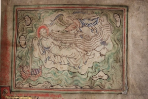An image from the object I chose, Bodleian MS Tanner 184, a mid-13th Century Apocalypse Manuscript
