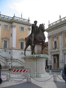 The Equestrian Statue of Marcus Aurelias, c. 175 AD; one of the works you might study for Antiquity after Anitquity