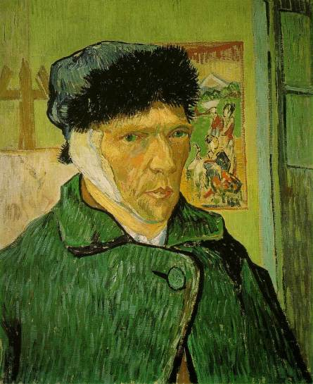 Vincent Van Gogh Self-Portrait with Bandaged Ear