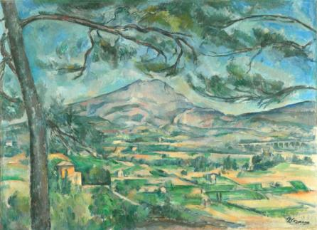 Cezanne Montainge Sainte-Victoire with Large Pine