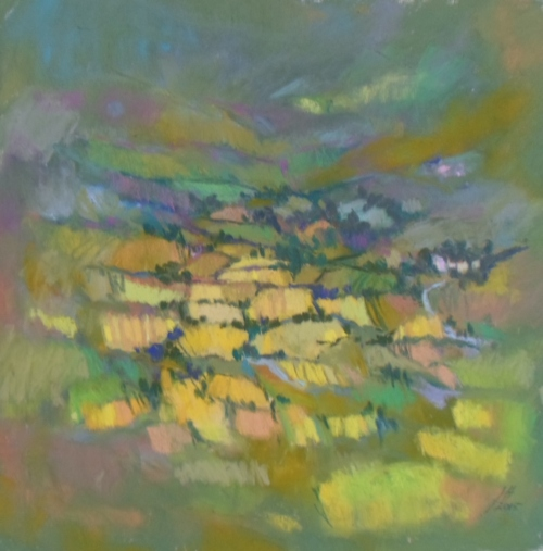 Fields, Cumbria. Pastel. Jane  Hope.JPG